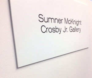 Sumner McKnight Crosby Jr Gallery at the Arts Council of Greater New Haven