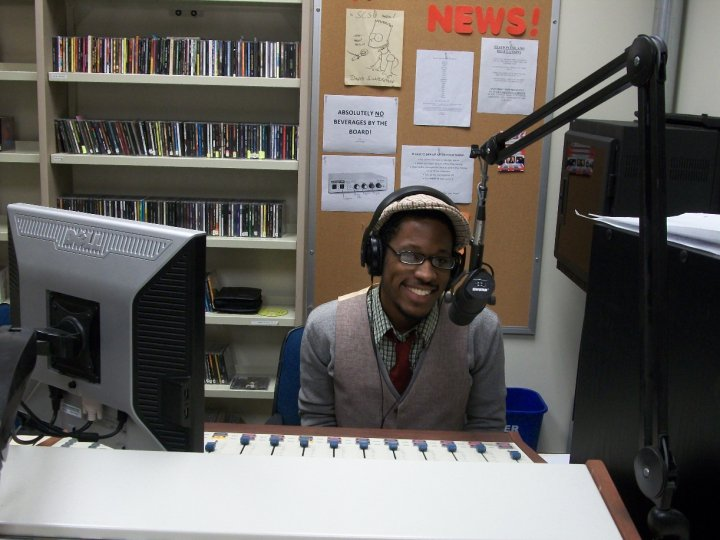 """Radio Stevie"" premiered in February 2010. Photo taken on first day ON AIR."