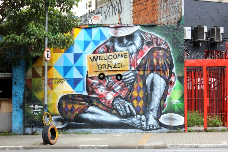 """Welcome to Real Brazil"" by Brazilian street artist Kobra."