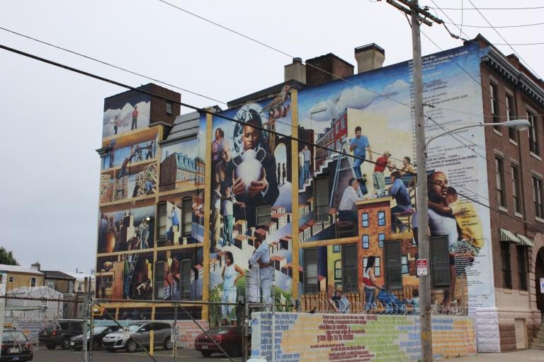 Exploring murals in Philadelphia, Pennsylvania.