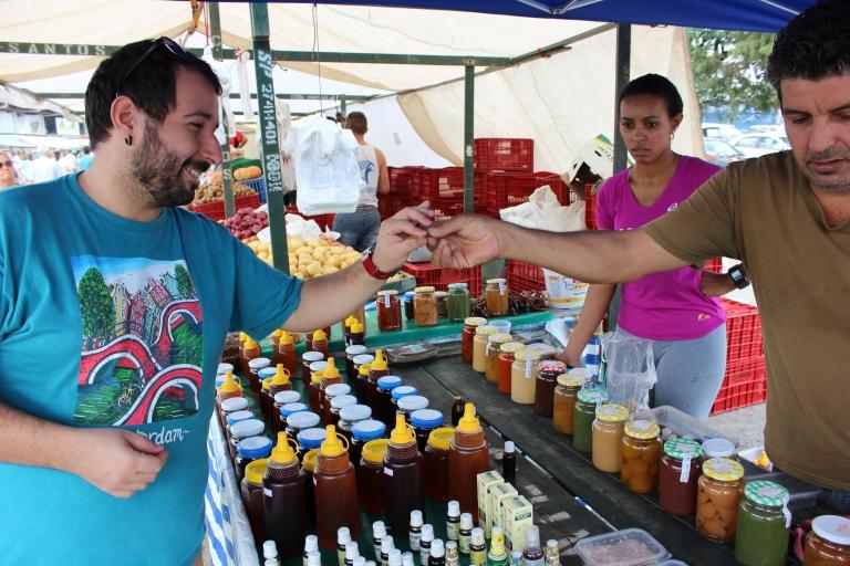 My honey tasting some local honey.