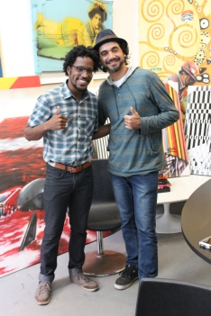 Photo of me with street artist Eduardo Kobra after my interview with him for Brasil Wire / Huffington Post. Check it out the story here.