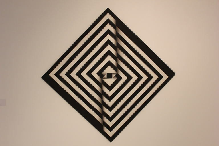 Artwork by Colombian artist Omar Rayo at the Museu de Arte Contemporânea da Universidade de São Paulo.